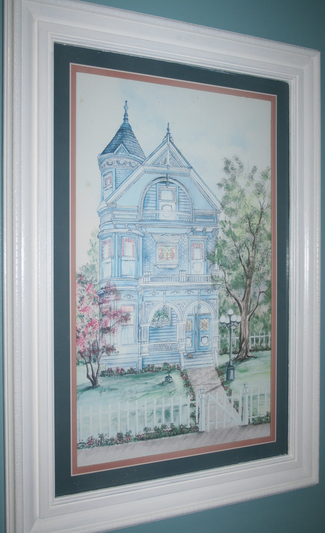 Watercolor of a Victorian Home Image