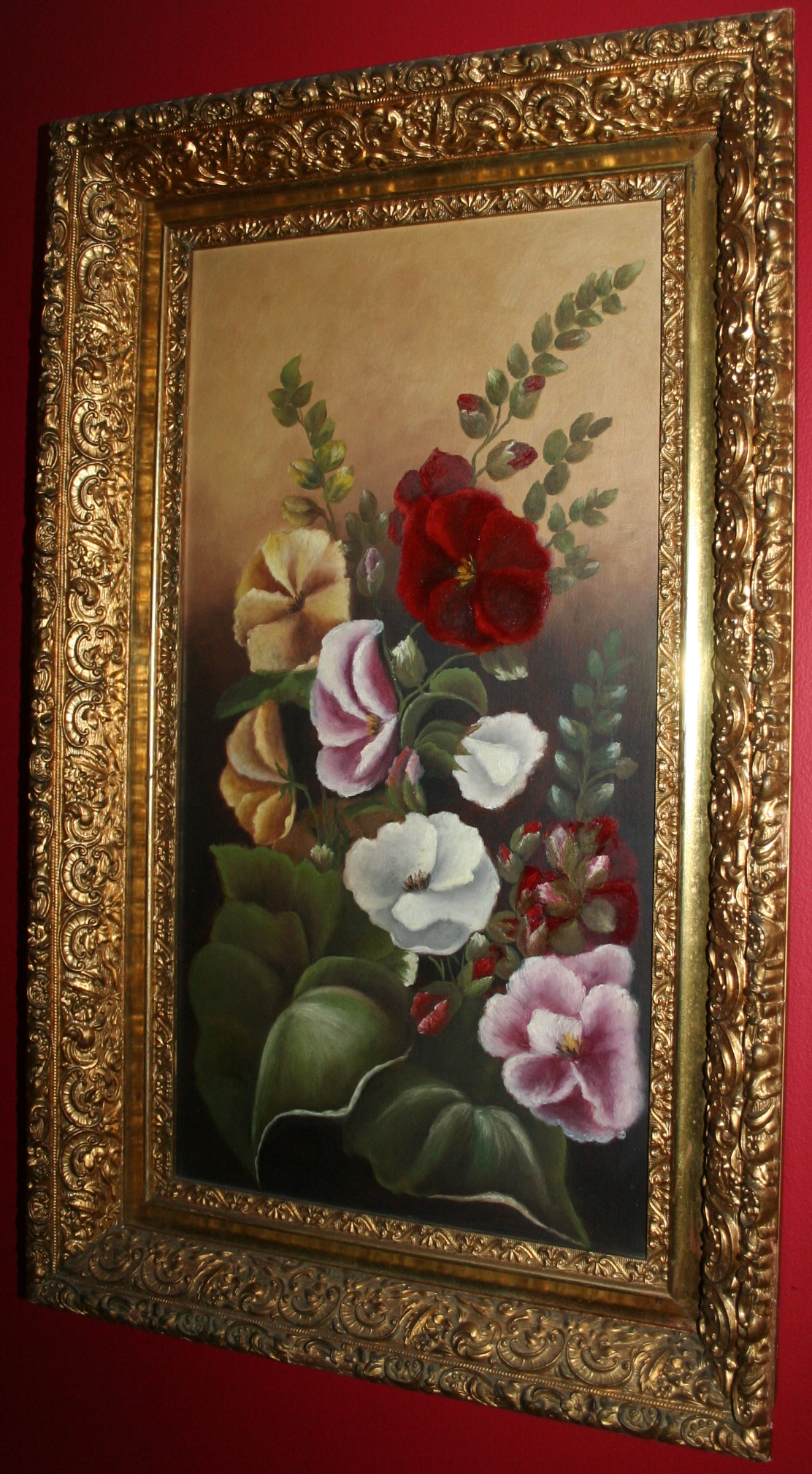 Antique Roses Painting Image