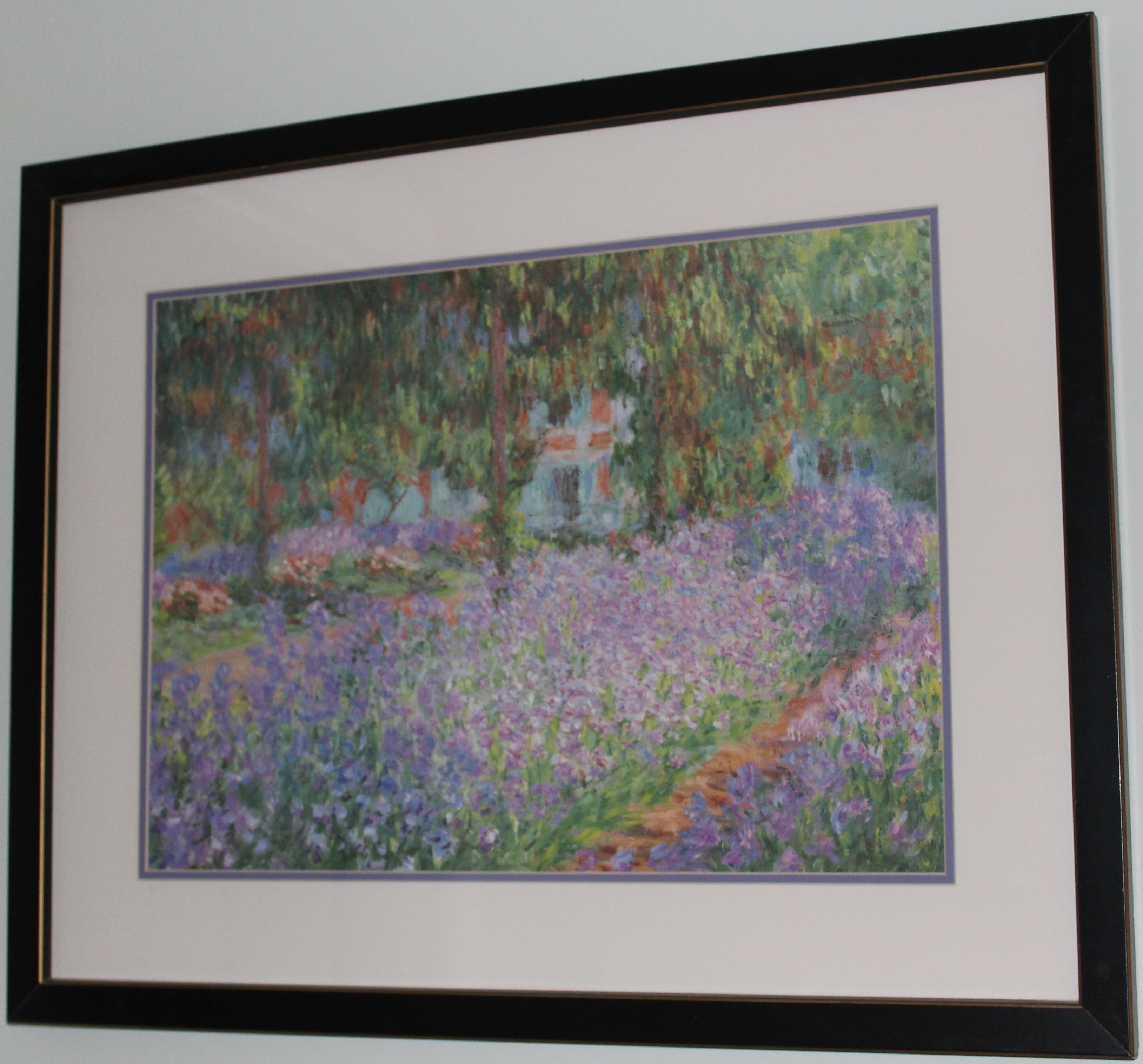 French Garden Watercolor Print by Monet Image