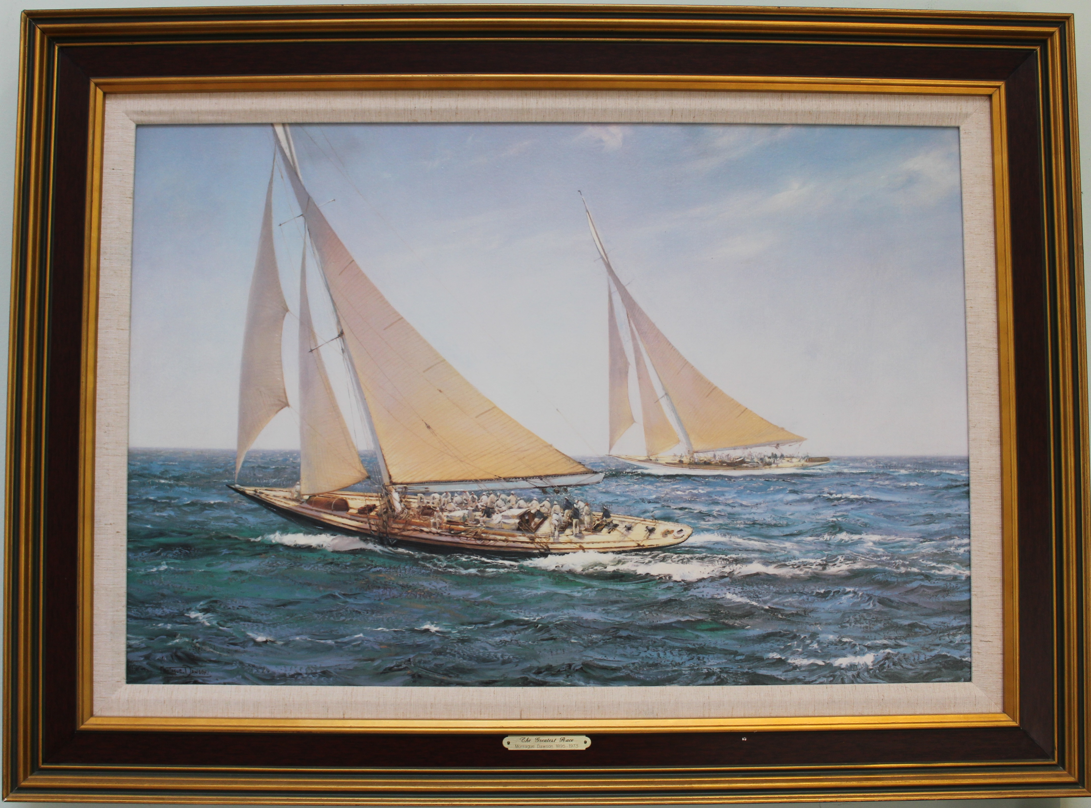 The Greatest Race by Montague Dawson Image